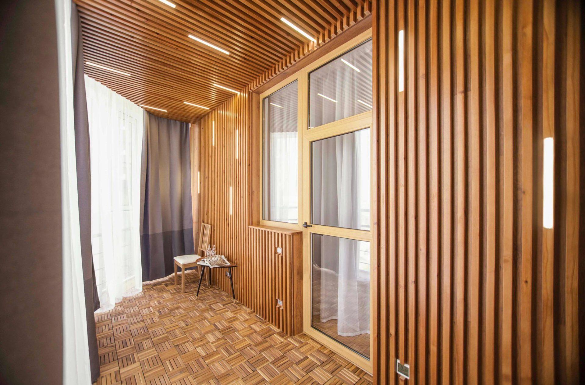 """""""design interior of balcony in eco stile"""" стоковая фотографи."""